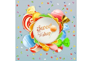 Sweet shop label