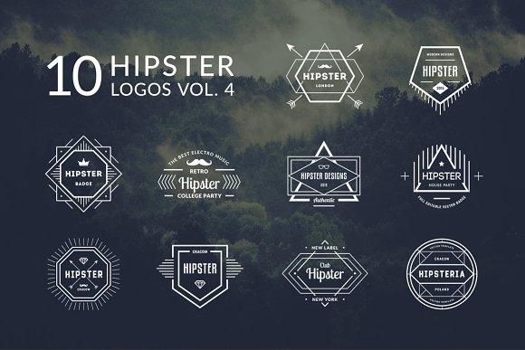 10 Hipster Logos Vol. 4 - Logos