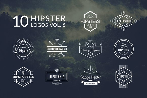 10 Hipster Logos Vol. 5 - Logos
