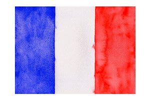 Watercolor Flag of France
