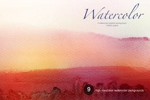 Collection of watercolor painting