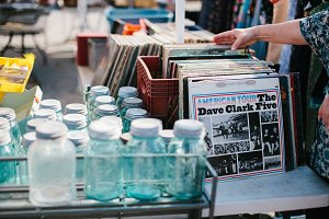 Vintage Jars & Records - Flea Market