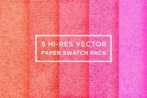 5 Hi-Res Vector Paper Textures Pack