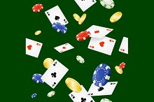 Casino Background Seamless. Vector
