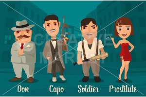 Don, capo, soldier, prostitute