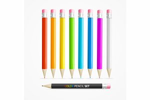 Color Pencil Set. Vector