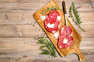 Raw beef meat Rib Eye Steak