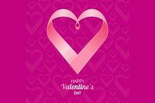 Valentine Background Heart. Vector