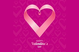 Valentine Background Heart. Vector