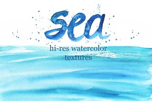 Watercolor Sea Textures