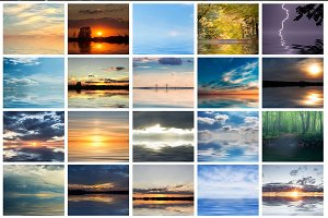 20 - Gorgeous Sky & Waters Overlays