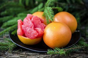 Ripe juicy grapefruit