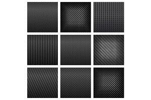 Gray carbon, fiber and metallic text