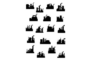 Industrial factories and refineries