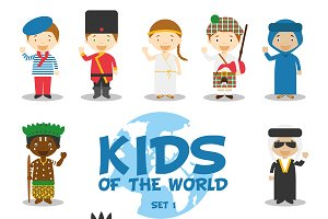 Kids of the world: Set 1