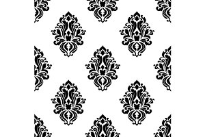 Decorative damask floral seamless pa