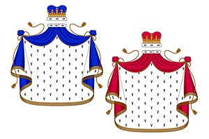 Blue and purple royal mantles
