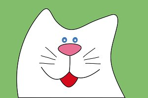 Funny cartoon cat. Vector.