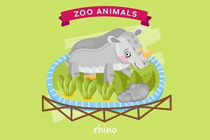 Zoo Animal, Rhino