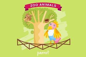Zoo Animal, Parrot