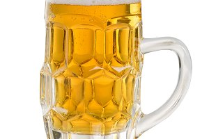 Golden Beer in Stein