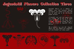 Jugendstil Flowers Collection Three