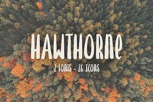 Hawthorne Hand Drawn Font