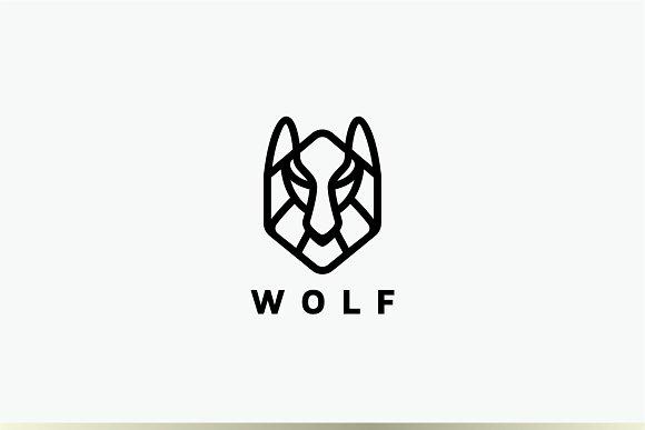 wolf head logo creative logo templates creative market creative market