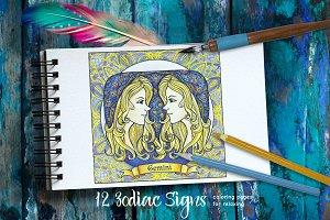 Decorative Zodiac signs