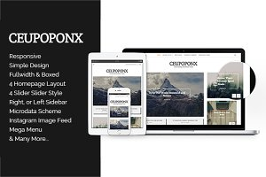 Ceupoponx - Personal Blog WP Theme
