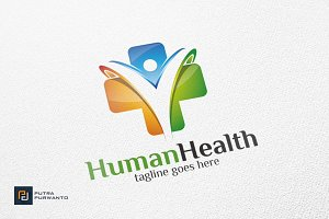 Human Health / Cross - Logo Template