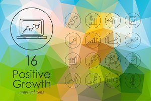 Positive Growth line icons