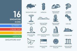 16 Singapore icons