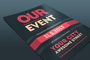 Our Event Flyer PSD Template