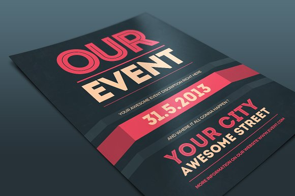 Our Event Flyer Psd Template Flyer Templates Creative Market