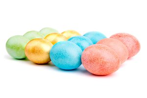 multicolored Easter eggs