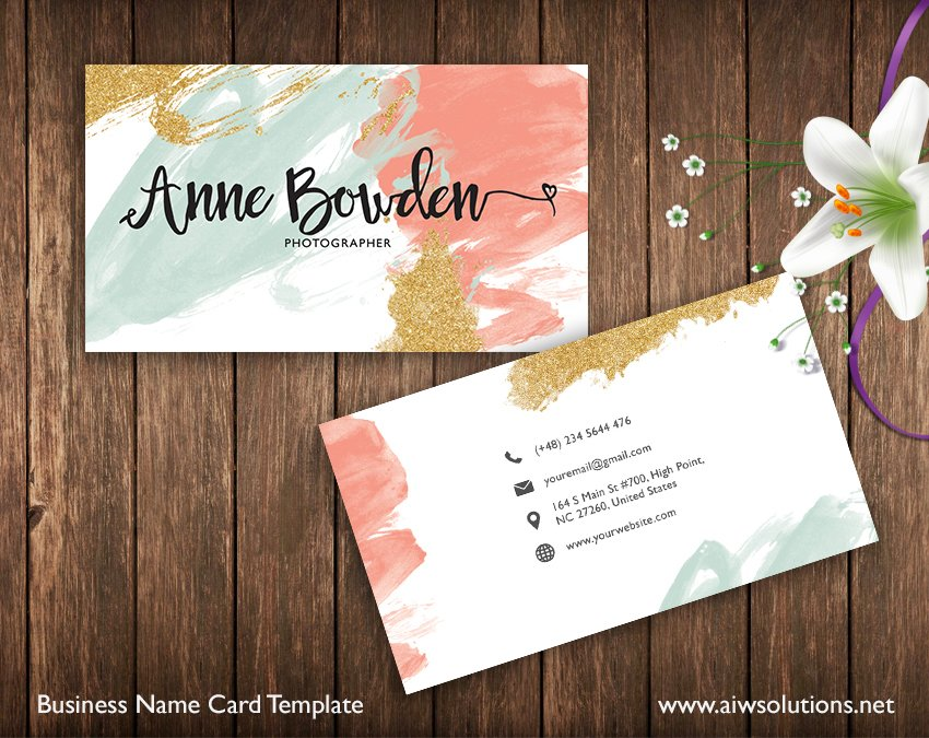 Name card template business card templates creative market wajeb Image collections