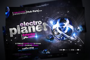 Electro Planet Flyer Template