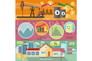 Real Estate Price Oil and Shares