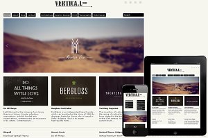 Vertical Responsive WordPress Theme