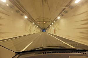 Road trip across the tunnel