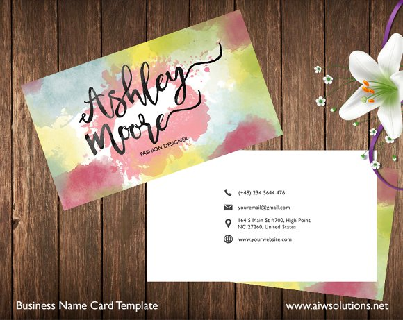 double sided business card business card templates creative market