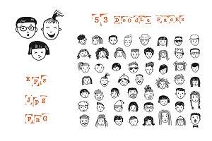 53 doodle faces