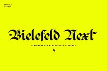 ED Bielefeld Next by  in Fonts