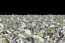 Dollar bills on the black background.jpg