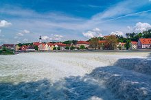 German city Landsberg am Lech in sunny day.jpg