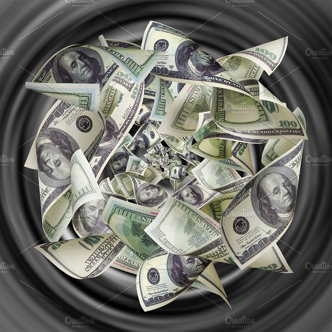 Dollars are tightened to the funnel.jpg - Photos