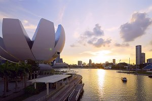 Beautiful sunset view to city of Singapore.jpg