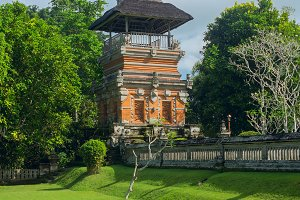 Fence of the temple on the island of Bali.jpg