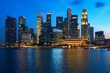 Beautiful sunset view to night Singapore.jpg